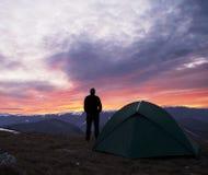 Zonsopgang in berg royalty-vrije stock foto