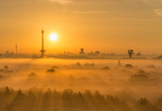 Zonsopgang in Berlijn Stock Foto's