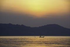 Zonsopgang bij baai phang-Nga Royalty-vrije Stock Afbeelding