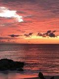 Zonsopgang bij beach2 Stock Afbeelding