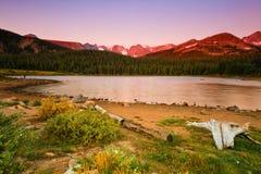 Zonsopgang bij Brainard Meer, Colorado stock afbeelding