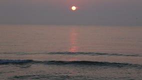 Zonsopgang bij de kust stock videobeelden