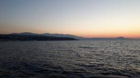 Zonsopgang bij de oceaan Stock Foto's
