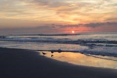 Zonsopgang bij het strand royalty-vrije stock fotografie