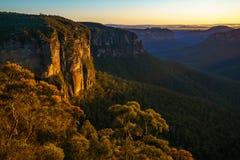 Zonsopgang bij het vooruitzicht van de govettssprong, blauwe bergen, Australië 73 royalty-vrije stock fotografie