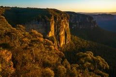 Zonsopgang bij het vooruitzicht van de govettssprong, blauwe bergen, Australië 75 royalty-vrije stock afbeeldingen