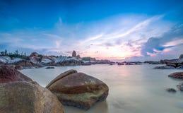 Zonsopgang bij KE GA, Binh Thuan Province Royalty-vrije Stock Afbeeldingen