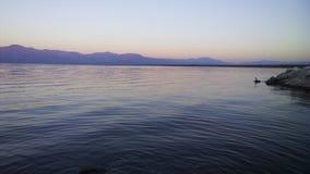 Zonsopgang bij Salton-Overzees Stock Fotografie