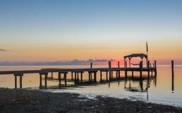 Zonsopgang bijna in het Zeer belangrijke westen, Florida royalty-vrije stock afbeeldingen