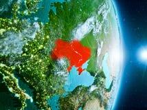 Zonsopgang boven de Oekraïne op aarde Royalty-vrije Stock Foto