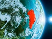 Zonsopgang boven Groenland op aarde Royalty-vrije Stock Fotografie