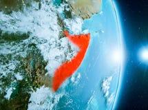 Zonsopgang boven Somalië op aarde Royalty-vrije Stock Foto