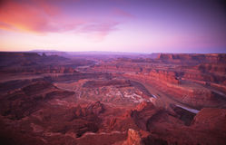 Zonsopgang in Canyonlands Stock Afbeelding