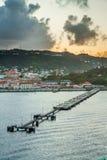 Zonsopgang in Caraïbisch Grenada, Royalty-vrije Stock Afbeeldingen