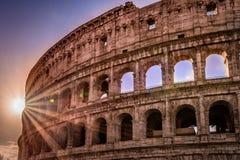 Zonsopgang in Colosseum Stock Afbeeldingen