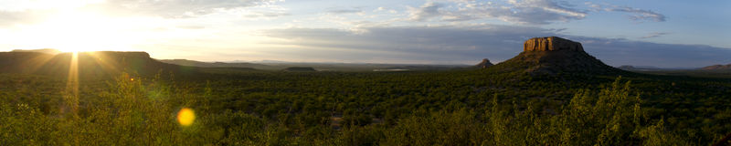 Zonsopgang in Damaraland Royalty-vrije Stock Afbeelding