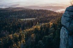 Zonsopgang in de bergen Royalty-vrije Stock Foto