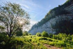 Zonsopgang in de bergen, mooi landschap Royalty-vrije Stock Foto