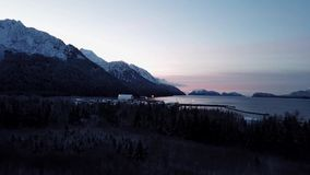 Zonsopgang in de Golf van Alaska stock videobeelden