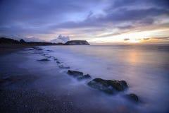 Zonsopgang in de kust Royalty-vrije Stock Foto's