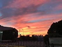 Zonsopgang in de vroege ochtendverschuiving stock foto's