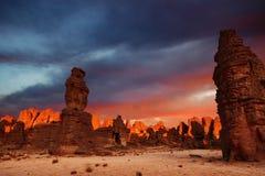 Zonsopgang in de Woestijn van de Sahara stock fotografie