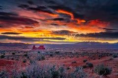 Zonsopgang in de Woestijn van Utah royalty-vrije stock afbeelding