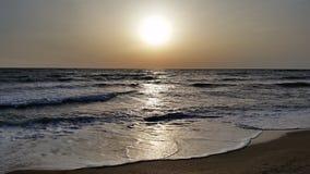 Zonsopgang in de Zwarte Zee stock foto