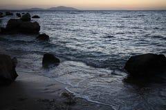 Zonsopgang dichtbij het overzees, Egypte Stock Foto's