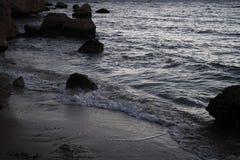 Zonsopgang dichtbij het overzees, Egypte Royalty-vrije Stock Foto's