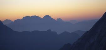 Zonsopgang in Dolomiet Stock Fotografie