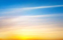 Zonsopgang en zonsondergang Royalty-vrije Stock Fotografie