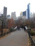 Zonsopgang en zonsondergang in Central Park Stock Fotografie