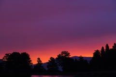 Zonsopgang in Estes Park stock foto