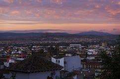 Zonsopgang in Granada, Spanje Stock Fotografie