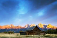 Zonsopgang in Grote Tetons Royalty-vrije Stock Afbeeldingen