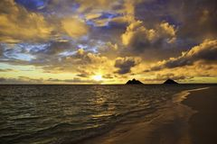 Zonsopgang in Hawaï Royalty-vrije Stock Afbeelding