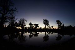 Zonsopgang in het Dogons-Land stock fotografie