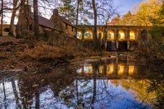 Zonsopgang, het Park van de de Bergstaat van Cumberland, Tennessee stock foto