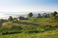 Zonsopgang in het platteland Stock Fotografie