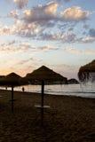 Zonsopgang in het strand Stock Foto's