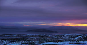 Zonsopgang in IJsland royalty-vrije stock fotografie