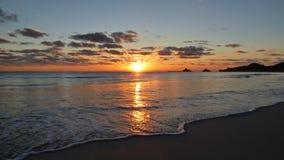 Zonsopgang in Kalama - Kailua, Hawai'i Stock Afbeelding