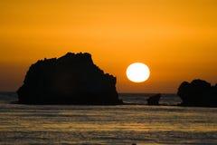 Zonsopgang in Korfu Stock Foto's