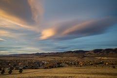 Zonsopgang in Lakewood, Colorado Stock Foto's