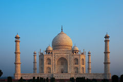 Zonsopgang Lege Taj Mahal Stock Fotografie