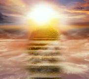 Zonsopgang Licht van hemel royalty-vrije stock afbeelding