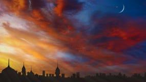 Zonsopgang Licht van hemel De achtergrond van de godsdienst Jesus in de hemel royalty-vrije stock foto