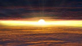 Zonsopgang Licht van hemel De achtergrond van de godsdienst Jesus in de hemel stock foto's