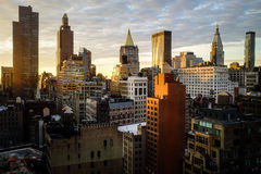 Zonsopgang in Manhattan Stock Afbeeldingen